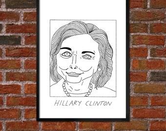 Badly Drawn Hillary Clinton - Politics Poster