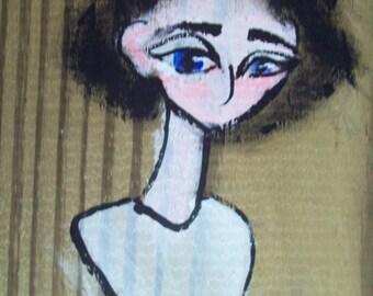 Asylum Senses Original Painting: Voice (Weird Art, Odd, Straitjacket...)