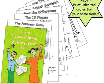 Printable - The Best Passover Seder Activity Book Ever - 24-page booklet that follows along with your Pesach Seder