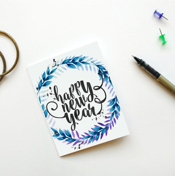 Happy New Year Card Printable New Years Card Instant