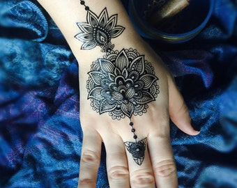 Henna Temporary Tattoo Set (Black)