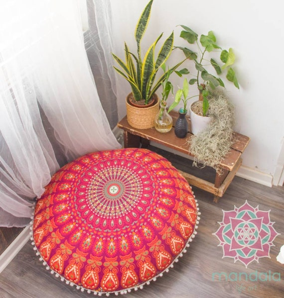 Poufs Floor Cushions Pouf Ottoman Meditation Cushion Pouffe Floor Pillow Pouf Seating Floor Pouf Cushion Cover