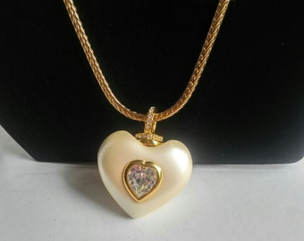 Heart Necklace - Nolan Miller - Estate Necklace - Designer Pendant - Nolan Miller Pendant - Vintage Necklace - Costume Jewelry - Heart Charm