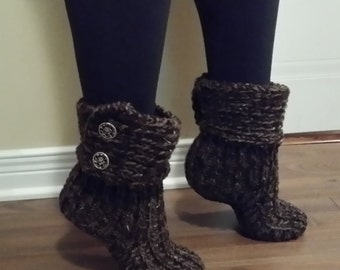Boot cuff slippers for women