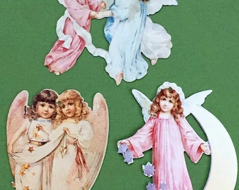 Victorian Christmas Tree Ornament Young Angels