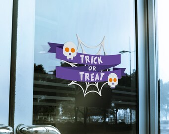 Trick Or Treat Window Cling Decal