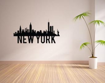 24 Inch New York City Skyline Vinyl Wall Decal