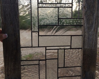 Stained Glass Panel in Clear Textured Glass
