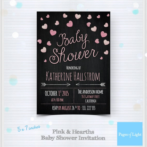 Baby Shower Templates Photoshop ~ Chalkboard baby shower invitation by pagesoflight