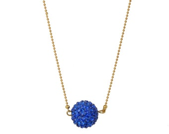 Blue Strass Necklace