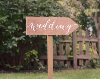 Wedding arrow stake signs - wedding restrooms photobooth - Wooden Wedding Signs - Wood