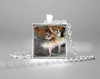 EDGAR DEGAS' BALLERINAS Necklace Degas Art Ballerina Pendant Degas' Paintings Degas Art Pendant Dancers Necklace Dancers Pendant Ballet