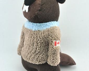 Handmade Canadian Beaver Sock Toy
