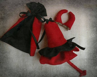 Little devil costume for neo blythe . Halloween. Blythe halloween . Costume Blythe. Costume Halloween.Blythe outfits hallowen