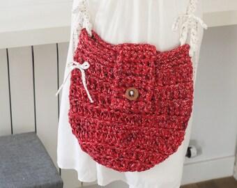 Crochet purse, bag bohostyle, summer bag,