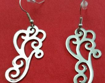Silver Whimsical Earrings
