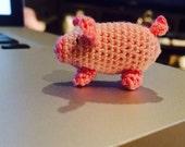 Crochet Micro Pig, (Aurora, Kansas) Aurora's Itty Bitty Piggy
