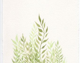 Dancing Leaves- Watercolour