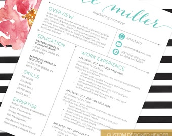 resume template cv template for word 4 pack social media icons the kate
