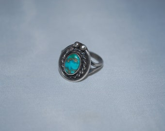 Sterling silver ring size 5 with turquoise.