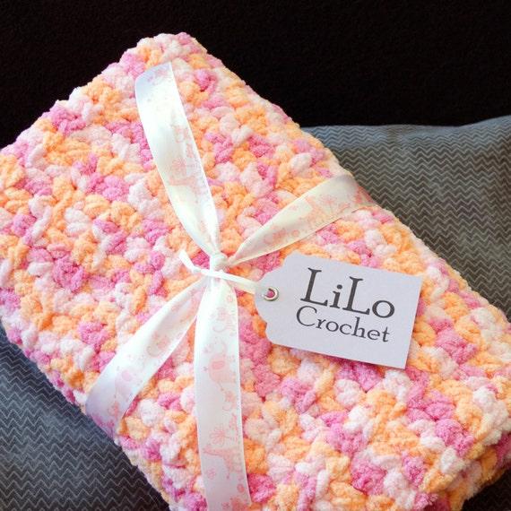 Crochet Baby Blanket Stroller Blanket Handmade Blanket