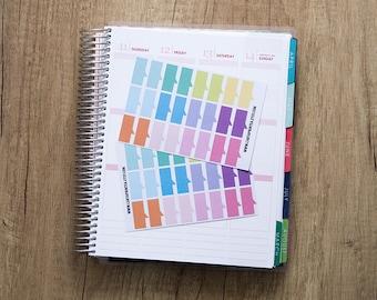 48 pastel bubble speech stickers, flag shout out sticker, planner stickers, scrapbook reminder checklist eclp filofax happy planner kikkik