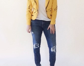 Moschino Couture Avant Garde Yellow Fitted Blazer