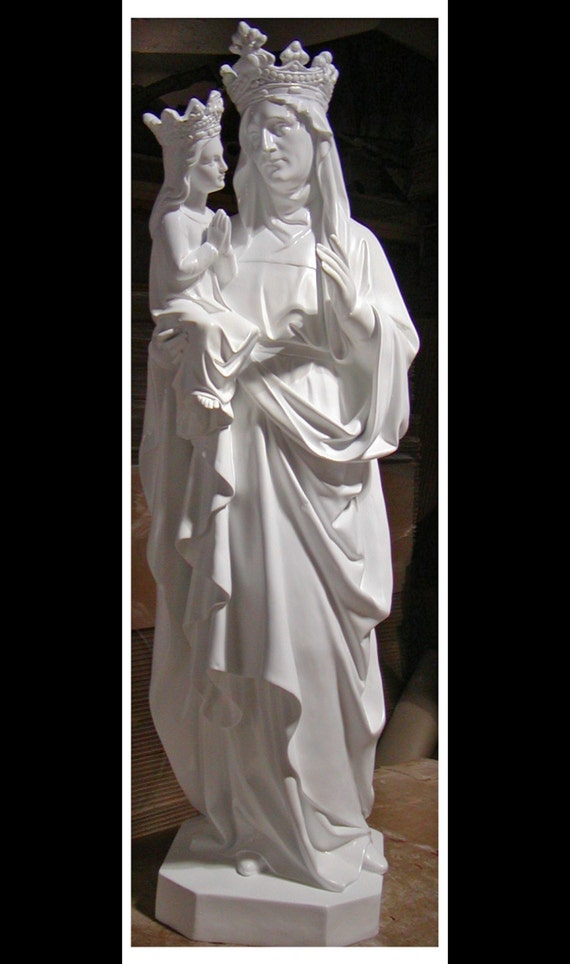 "St. Anne with the Child Mary Fiberglass 60"" Catholic Christian Religious Statue"