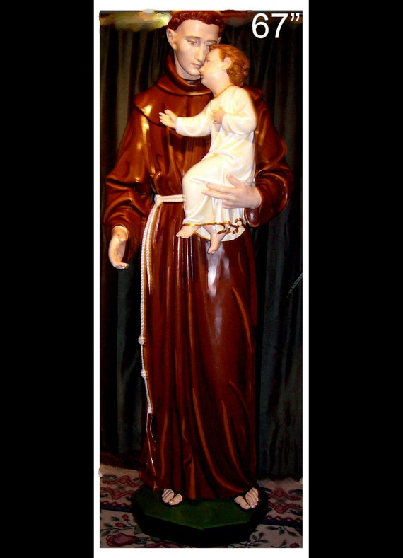 St. Anthony of Padua Fiberglass Catholic Christian Franciscan Statue