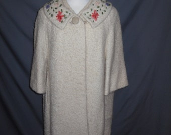 Vintage Betty Rose Boucle Wool Coat