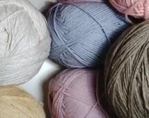 Organic Cotton Yarn, 9 Different Colors