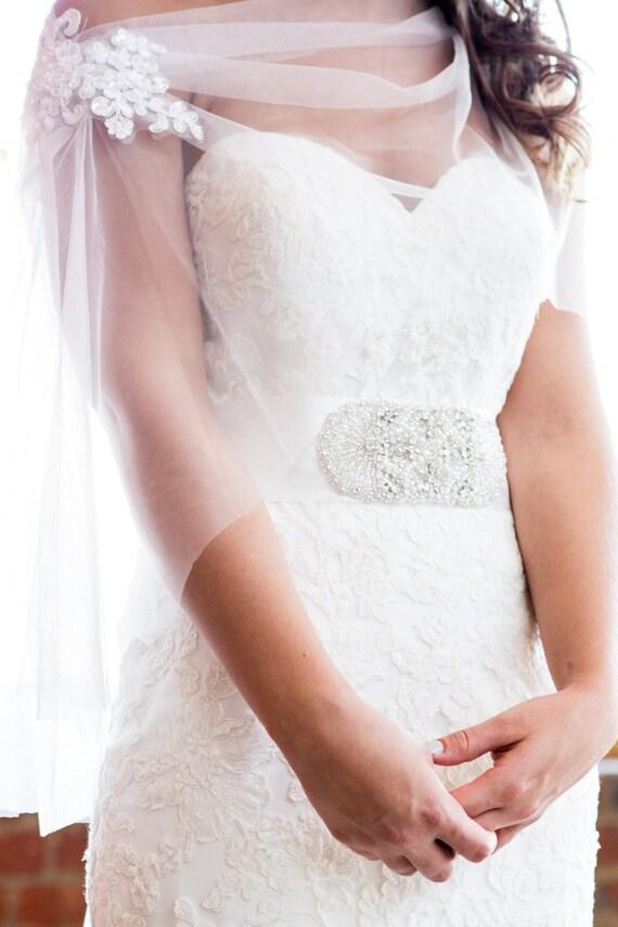 Wedding cape tulle wedding cape wedding bolero wedding for Cover up wedding dress