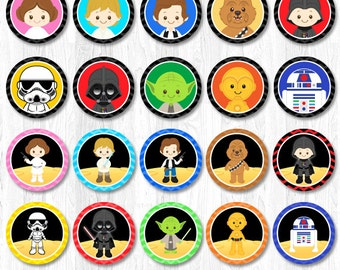 Star Wars Cupcake Toppers, Star Wars Cupcake Wrappers, Star Wars Party