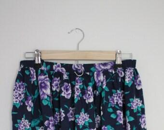 the long purple flower skirt