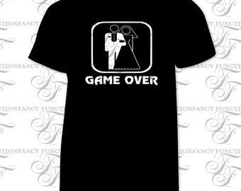 Game over wedding t-shirt, funny wedding shirt, gamer shirt