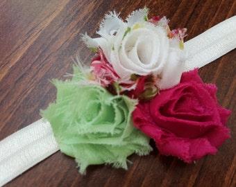 Ivory Floral Headband
