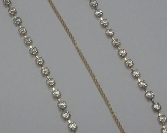 Gold Head Chain. Crystal Head Chain. Crystal Hair Chain.