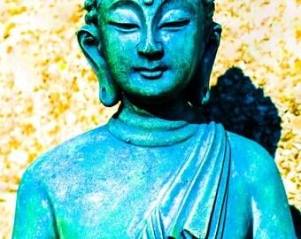 Green Buddha Photo, Instant Download Buddha Art,Green Buddha Digital File,Buddha, Buddha Art