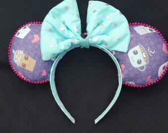 Coffee Theme Mouse ears