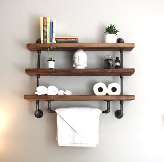 Industrial Pipe Shelf Bathroom Shelves Kitchen Shelves