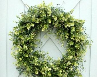 Boxwood Wreath ~ Spring Wreath ~ Front Door Wreath ~ Year Round Wreath ~ Summer Wreath