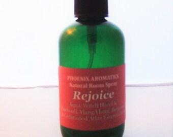 Rejoice natural room spray, 100ml, relaxing, sensual,ylang ylang, patchouli, cedarwood atlas, bergamot, aromatherapy, essential oils