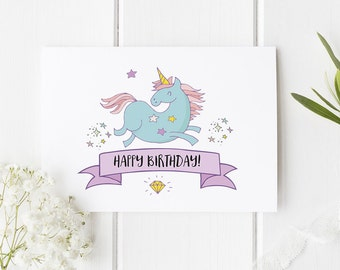 Unicorn Birthday Card / Unicorn Card / Unicorns / Funny Card / Birthday Card / Funny Birthday Card /