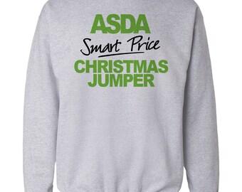 Christmas Jumper Funny Gift ASDA Smart Price Xmas Sweater Mens And Ladies Present 2015 Santa Reindeer Elf Snowman Christmas Sweater