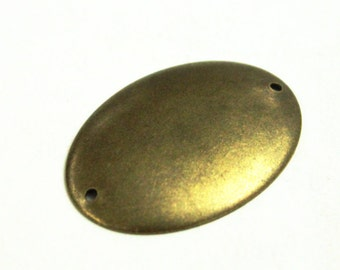 10 pcs 27x37 mm Two Side Hole Curved Brass Antique Bronze Color