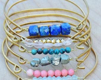 Boho Jewelry Bracelet Set, Boho Stacking Gemstone Bracelets, Boho Gemstone Bracelets, Boho Bangle Bracelet Set, Boho Bangles, Boho Bracelets