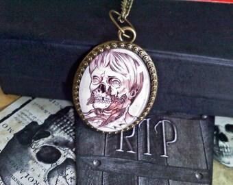 Zombie Man Cabochon Necklace