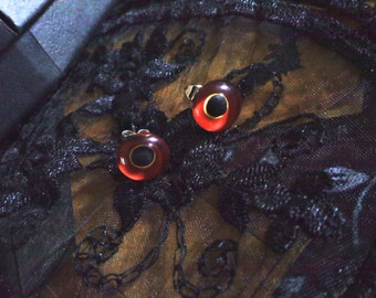 Glass Animal Eye Earrings