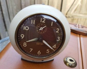 Working 1950's Westclox Baby Ben style 6 Vintage Wind Up Alarm clock
