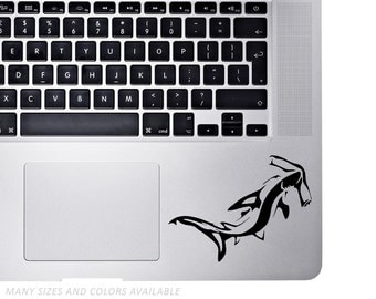 Hammerhead Shark - Palm Rest Sticker Decal for Laptops - Customizable any way you want!